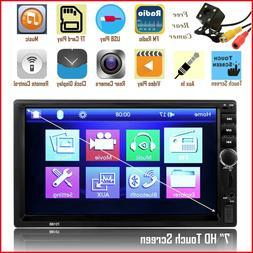 "Bluetooth Car Stereo Radio HD 7"" Touch Screen MP5 USB AUX Au"