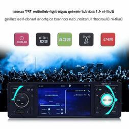 Bluetooth Car Video Player Stereo FM Radio Remote Control Ca