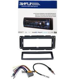 Bluetooth CD Receiver W CAR STEREO DASH KIT WIRE HARNESS FOR