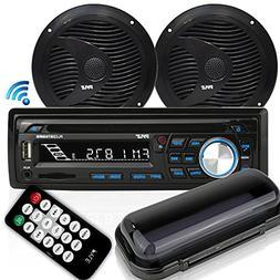 Pyle Bluetooth Marine Stereo Receiver & Waterproof Speaker K