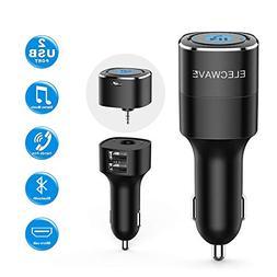 Bluetooth Receiver for Car, ELECWAVE Bluetooth 4.2 Hands-Fre