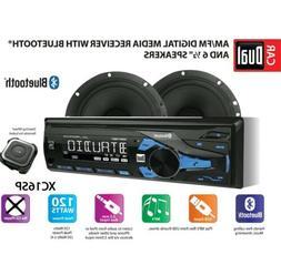 Bluetooth Stereo Radio AM/FM Speaker System Kit Car Auto Aud