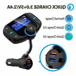 Bluetooth Wireless Car AUX Stereo Audio Receiver FM Radio Ad