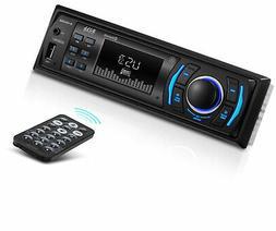 BOSS Audio 616UAB Multimedia Car Stereo Single Din LCD, Blue