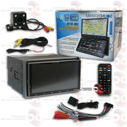 "SOUNDSTREAM CAR 7"" DUAL DISPLAY DVD GPS BLUETOOTH STEREO FRE"
