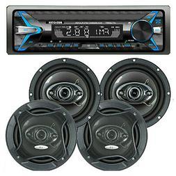 CAR AUDIO DIGITAL MEDIA PLAYER STEREO RECEIVER  WHIT  BLUETO