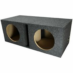 """Car Audio Dual 10"""" Vented Subwoofer Stereo Sub Box Ported En"""