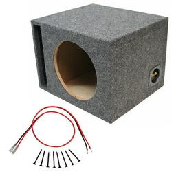 "Car Audio Single 15"" Ported Subwoofer Enclosure Stereo Bass"