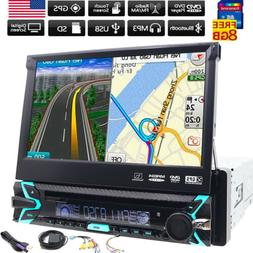 Car DVD Player 2DIN In Dash GPS Navigation+Map FM+Bluetooth+