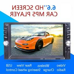 Car MP5 Player 6.6 Inch Car Stereo HD 1080P Video Radio Wire