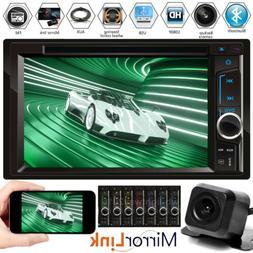 Car Multimedia FM AM Radio DVD CD Player Bluetooth 2Din 6.2'