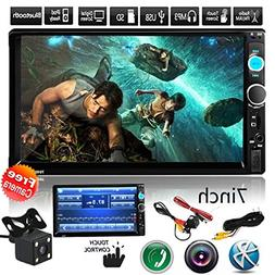 """Car Rear View Camera + CarcarTong 7"""" Double Din Touchscreen"""