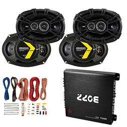 Kicker 6x9 360W Car Speakers  + 1000W Amplifier + 8 Gauge Wi