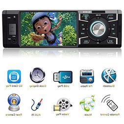 Indash Car Stereo with Bluetooth Single Din FM Radio for Car