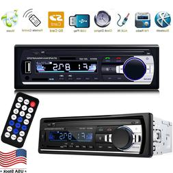 Car Stereo Audio Bluetooth In-Dash FM Aux Input Receiver SD