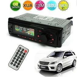 Car Stereo Audio In-Dash FM Aux Input Receiver SD USB MP3 Mu