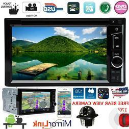 Car Stereo Bluetooth Radio 2 Din CD DVD Player MirrorLink Fo