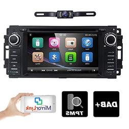 Hizpo Car Stereo GPS DVD Player for Dodge Ram Challenger Jee