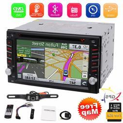 "Car Stereo GPS Navigation Bluetooth Radio Double 2 Din 6.2"""