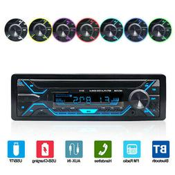 Single DIN Car Stereo MP3 Player Bluetooth FM TF USB AUX In-