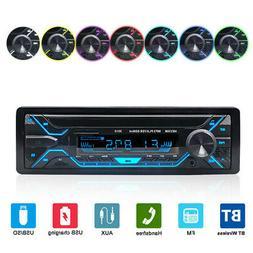 1DIN Car Stereo Audio Radio MP3 Player Bluetooth TF/USB/AUX