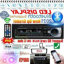 Car Stereo Radio Bluetooth Audio FM Aux Input Receiver TF US