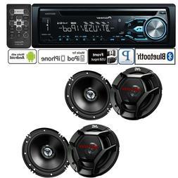 Pioneer Car Stereo Radio Bluetooth CD Player + 2 Pair JVC 6.