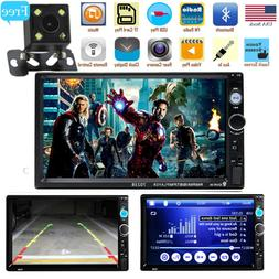 "Car Stereo Radio DVD HD MP5 Player 7"" Touch Screen Bluetooth"