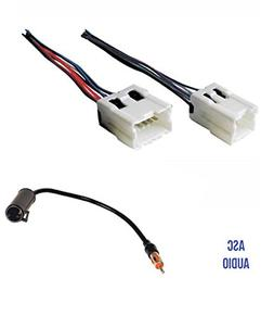 ASC Audio Car Stereo Radio Wire Harness and Antenna Adapter