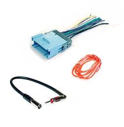 ASC Audio Car Stereo Radio Wire Harness Plug and Antenna Ada