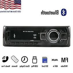 Car Stereo Receiver Audio Radio Bluetooth FM AUX IN USB MP3