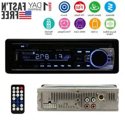 Car Stereo Receiver Radio Bluetooth In Dash 1 Single Din MP3