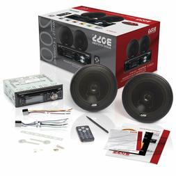 BOSS Audio Car Stereo Speaker System Players Single Din, Blu