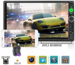 Car Stereo with Bluetooth Double Din Car Radio Backup Camera