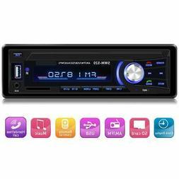 Car Truck Stereo Single Din Bluetooth AM/FM/AUX USB SD Card