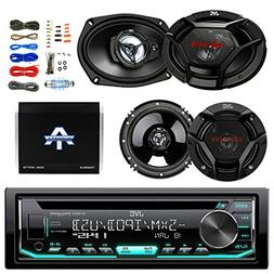 JVC CD/MP3 AM/FM Radio Player Car Receiver Bundle Combo with