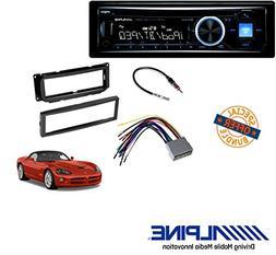 Alpine Advanced Bluetooth CD Receiver W/CAR Stereo Dash Inst