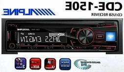 ALPINE CDE-150E SINGLE DIN IN-DASH CAR CD PLAYER  USB AUX BA