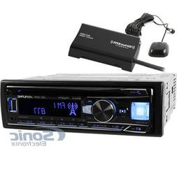 Alpine CDE-164BT Single DIN Bluetooth Car Stereo +  SiriusXM