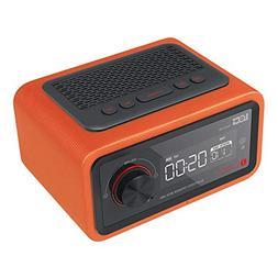 radio Clock Display 4 Sets of Alarm Clocks Bluetooth Speaker