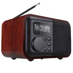 radio D90 Wooden Bluetooth Speaker Alarm Clock, Support U Di