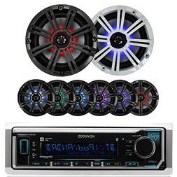 Kenwood In Dash Car Audio Bluetooth Stereo Aux USB Siriusxm