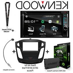 """Kenwood DDX395 6.2"""" DVD Receiver, iDatalink Maestro KIT-FOC1"""