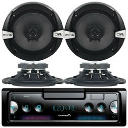 Kenwood KDC Car Audio CD MP3 AUX Stereo Player With 4x JVC 6