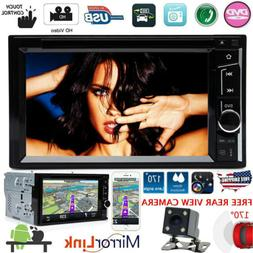 "Doble Din 6.2"" Car Stereo DVD CD MP3 Player HD In Dash Bluet"