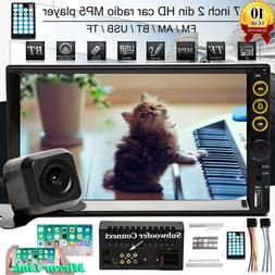 """Double 2 Din 7""""Car Stereo MP5 MP3 Mirror-Link-GPS In Dash Bl"""