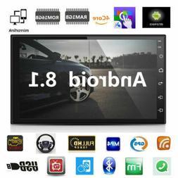 """Double 2 Din 7"""" HD Quad-Core Car Stereo Radio GPS Wifi Mirro"""
