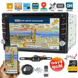 "Double 2 Din 6.2"" Car Stereo DVD CD MP3 Player HD In Dash Bl"