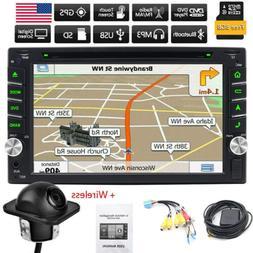 Double 2DIN Car Stereo Radio DVD Player Bluetooth GPS Naviga