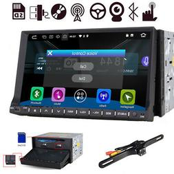 """Double 2Din Flip-Out 7"""" Car Stereo DVD VCD Player GPS/USB/Bl"""